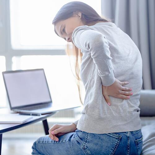 Für eine angenehme Entlastung des Rückens Insbesondere im Lendenwirbelbereich
