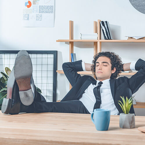 Zur Entspannung nach einem anstrengenden Arbeitstag Zur Unterstützung des Blutrückflusses